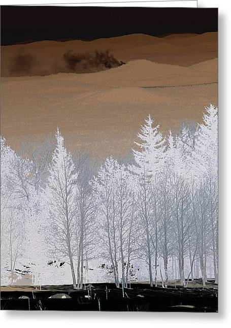 Greeting Card featuring the photograph Fire On The Peaks by Tom Kelly