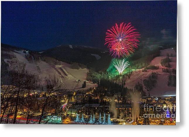 Fire Over Vail Greeting Card