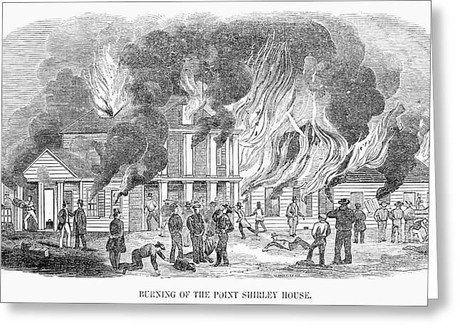 Fire Point Shirley, 1851 Greeting Card