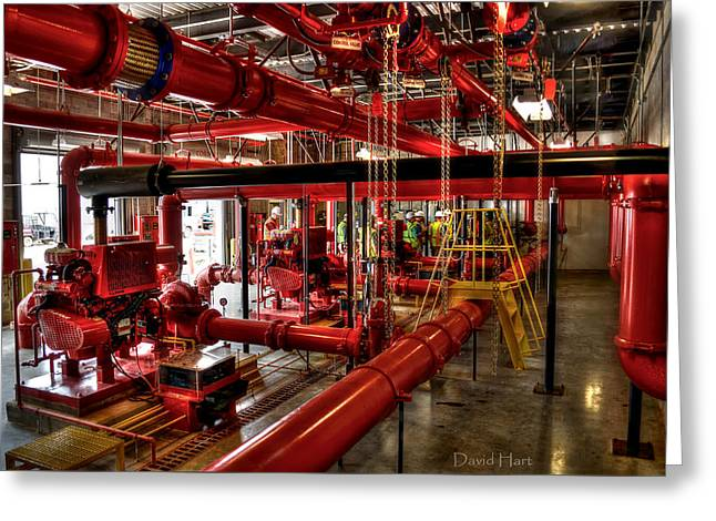 Fire Pumps Greeting Card