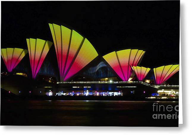 Fire Sails - Sydney Vivid Festival - Sydney Opera House Greeting Card