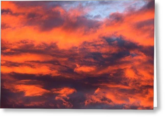 Fire Sky Greeting Card