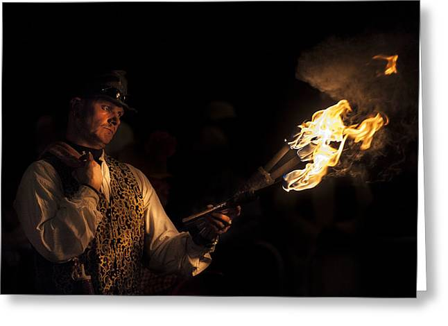 Fire Starter Greeting Card by Richard Allen