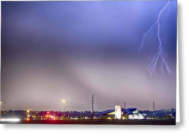 Fire Station Lightning Strike Greeting Card by James BO  Insogna