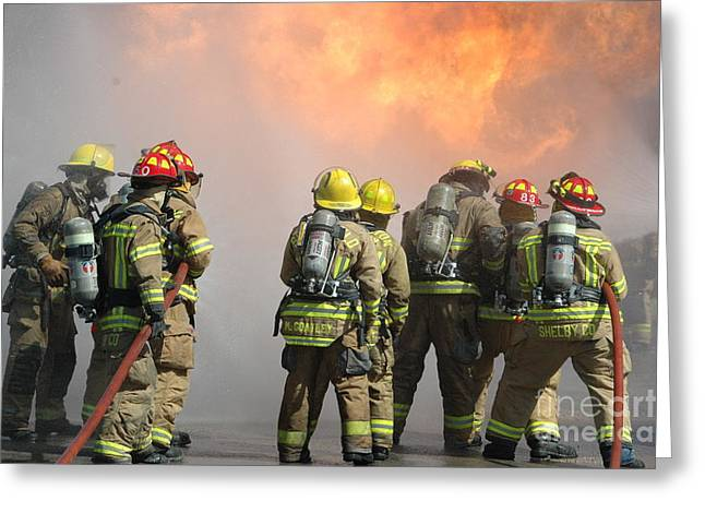 Fire Training  Greeting Card by Steven Townsend