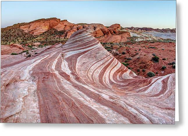 Fire Wave Nevada Greeting Card by Pierre Leclerc Photography
