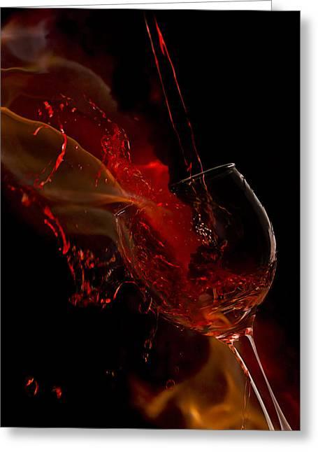 Fire Wine Greeting Card