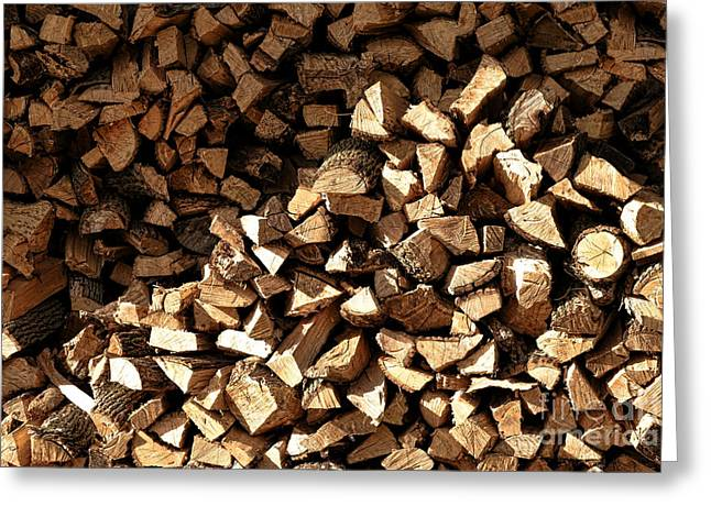 Firewood Greeting Card by Olivier Le Queinec