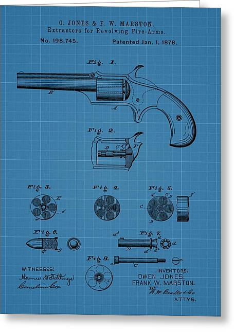 Firearm Extractor Blueprint Patent Greeting Card