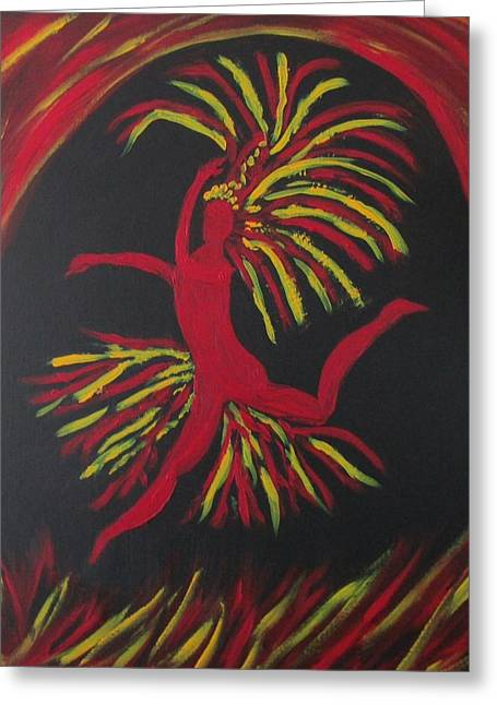 Firebird Greeting Card by Sharyn Winters