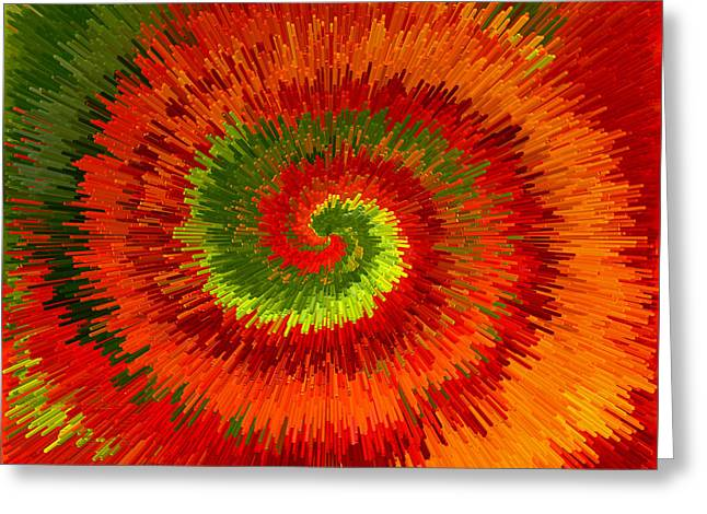 Greeting Card featuring the photograph Fireburst Extrusion by Ellen Tully