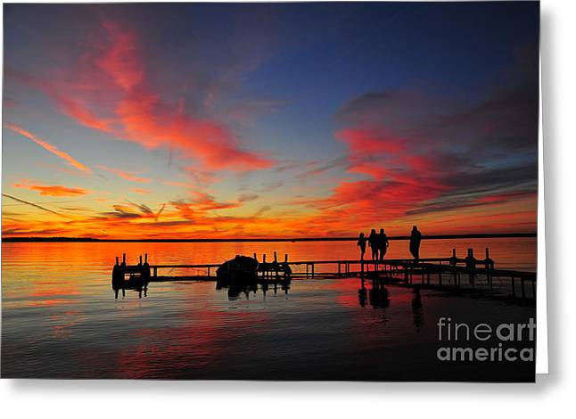 Firecracker Sunset 28 Greeting Card by Terri Gostola