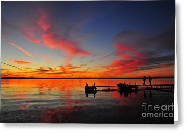 Firecracker Sunset 30 Greeting Card by Terri Gostola