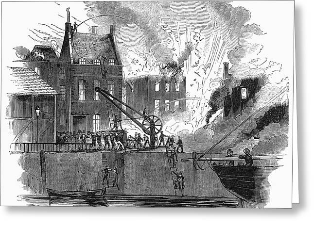 Firefighting, 1844 Greeting Card by Granger