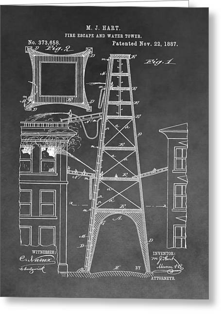 Firefighting Patent Greeting Card by Dan Sproul