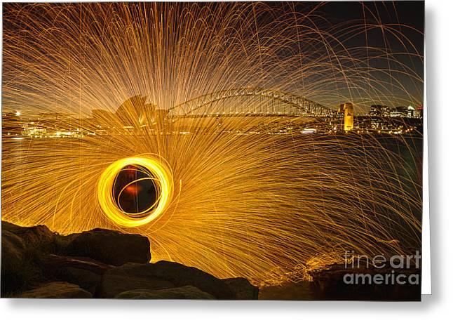 Fireflies Greeting Card by Andrew Paranavitana