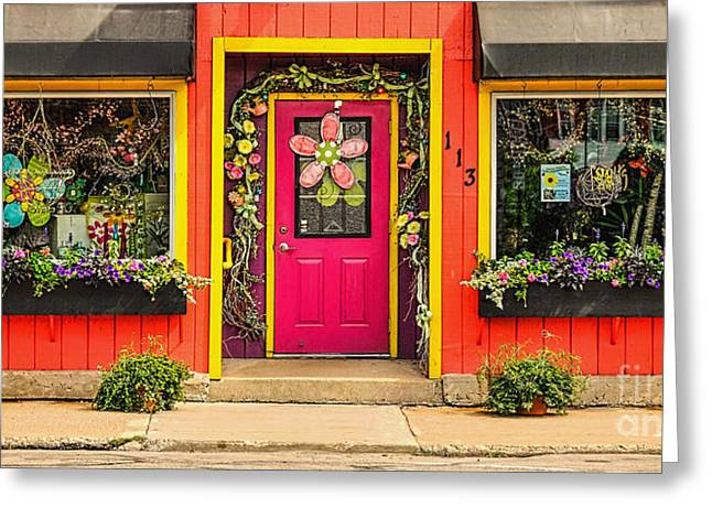 Greeting Card featuring the photograph Firefly Floral Shop by Trey Foerster