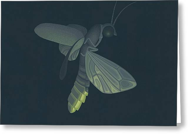 Firefly Greeting Card by Nathan Marcy