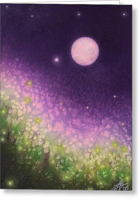 Firefly Night II Greeting Card
