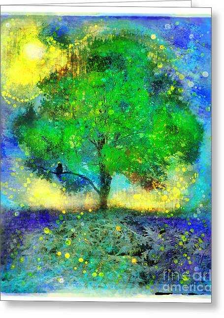Firefly Summer Nights Greeting Card