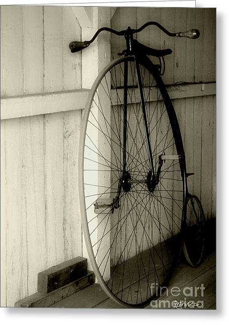 Firehouse Velocipede Greeting Card by RC deWinter
