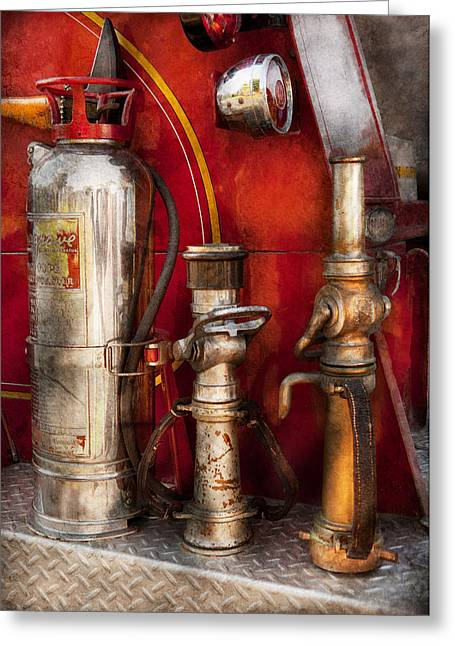Fireman - Fighting Fires  Greeting Card by Mike Savad
