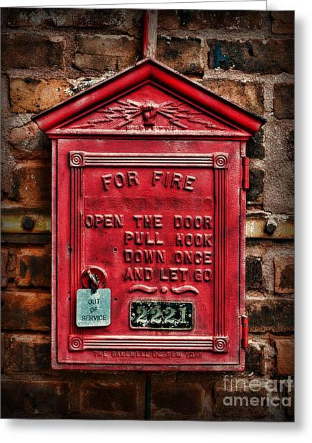 Fireman - Fire Alarm Box - Out Of Service Greeting Card