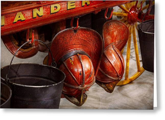 Fireman - Hats - I Volunteered For This  Greeting Card by Mike Savad