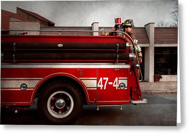 Fireman - Metuchen Nj - Always On Call Greeting Card