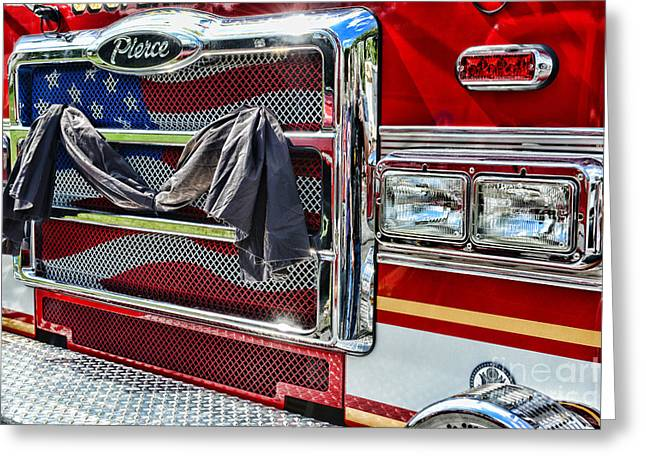 Fireman - Remembering Fallen Heroes Greeting Card by Paul Ward