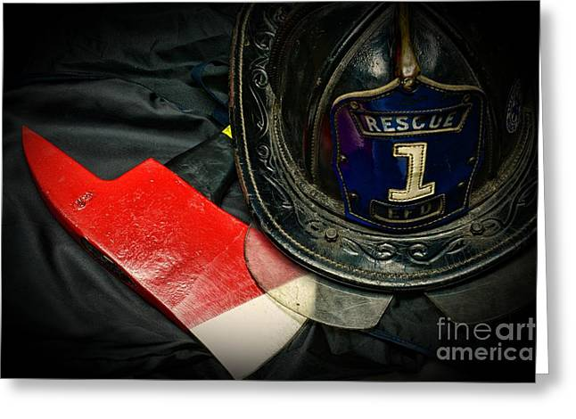 Fireman - Rescue 1 Greeting Card by Paul Ward