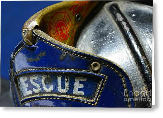 Fireman Rescue Greeting Card by Paul Ward