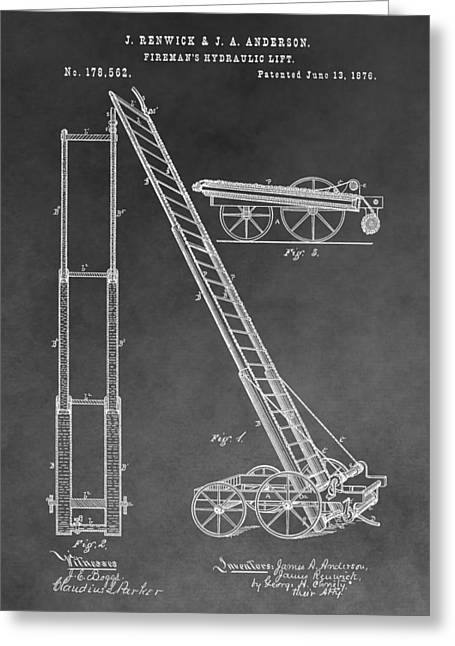 Fireman's Hydraulic Lift Greeting Card by Dan Sproul