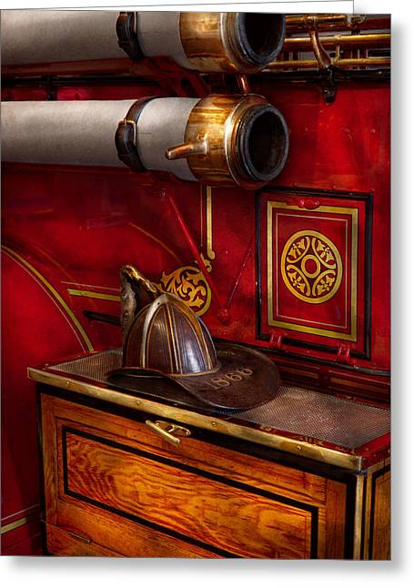 Firemen - An Elegant Job  Greeting Card by Mike Savad