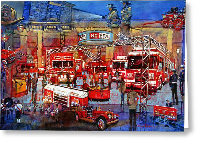 Firemen's Convention Greeting Card