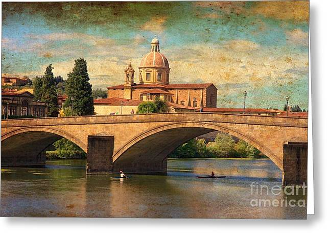 Ponte Alla Carraia Greeting Card