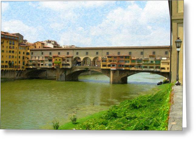 Firenze Bridge Itl2153 Greeting Card