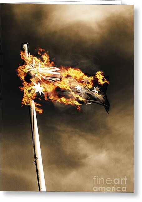 Fires Of Australian Oppression Greeting Card by Jorgo Photography - Wall Art Gallery