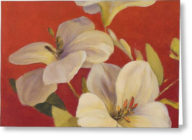 Fireside Flowers I Greeting Card