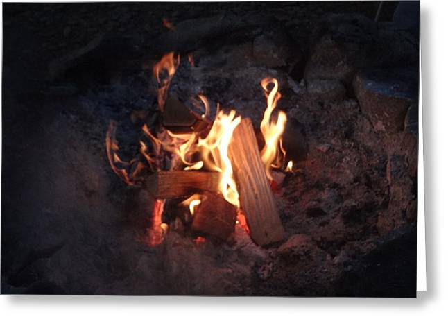 Fireside Seat Greeting Card by Michael Porchik