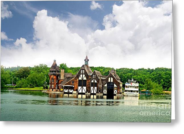 Firestation On The 1000 Islands Greeting Card