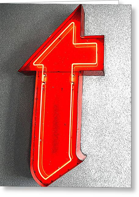 Firestone Building Red Neon T Greeting Card