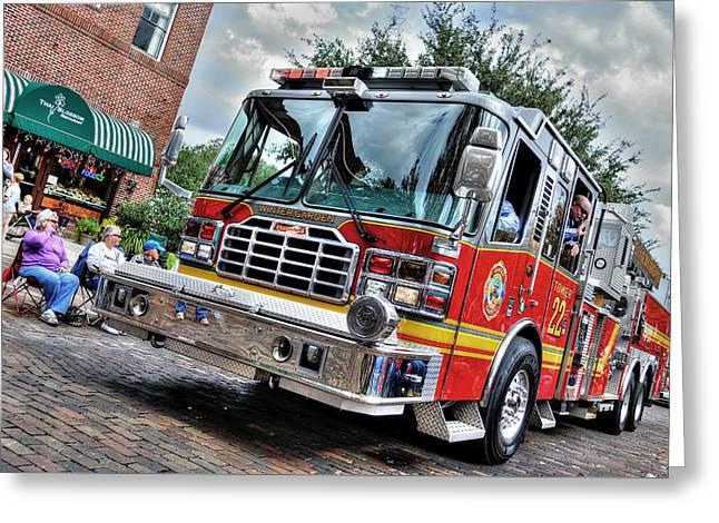 Firetruck Greeting Card