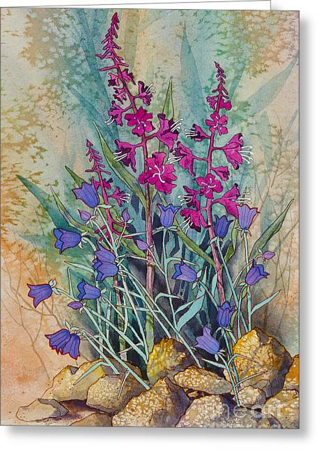 Fireweed And Bluebells Greeting Card