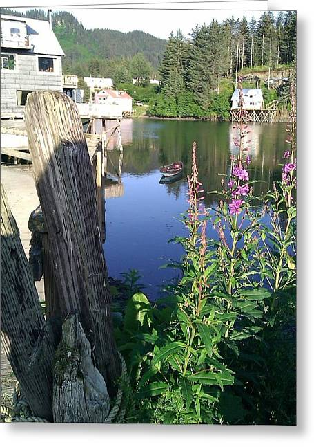 Fireweed Greeting Card by Susan Mumma
