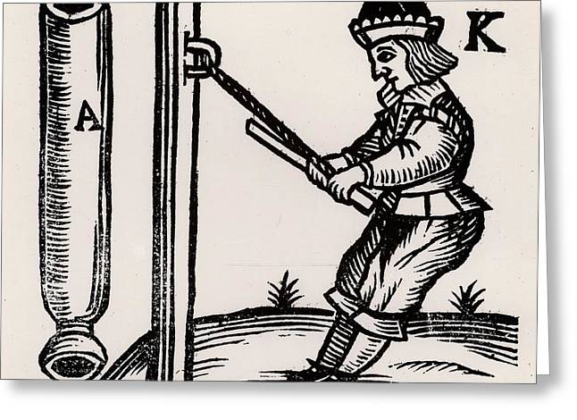 Firework-maker Making A Rocket Greeting Card by Universal History Archive/uig