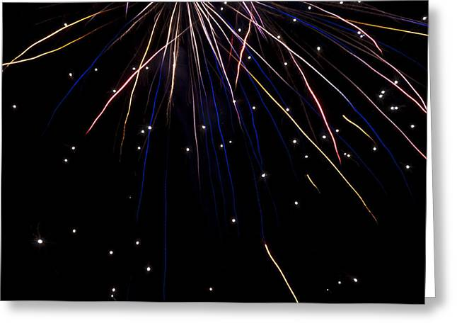 Firework Rain Greeting Card