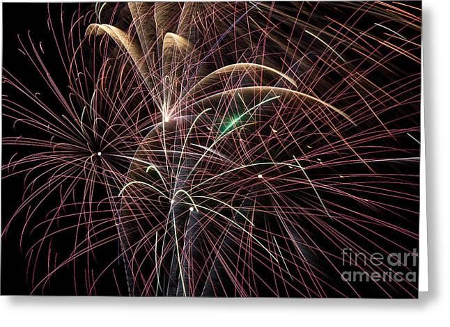 Firework Trails Greeting Card by Jason Meyer