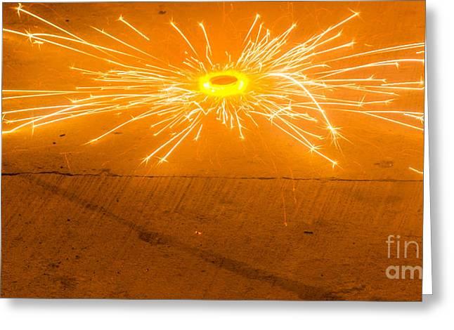 Firework Wheel Greeting Card by Image World