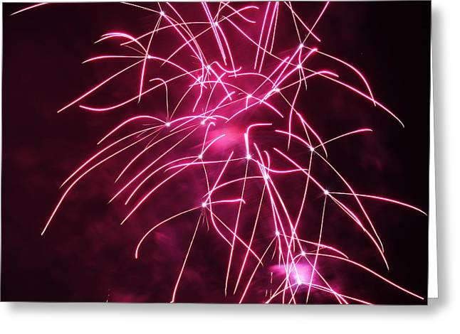 Rockets Red Glare Fireworks Greeting Card